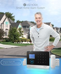 DiggoDG-HOSASistema Intelligente di Allarme di Casa Wirelesscon GSM&WIFI&3G Kit Fai Da Te con Sensor Infrarosso di Movimento e Magnetismo per Porta con il Controllo da APP
