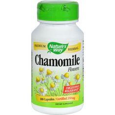 Nature'S Way Chamomile Flowers - 100 Capsules