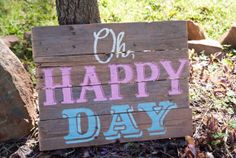 Oh Happy Day Wedding sign  rustic wood by SweetSouthernRevival, $50.00