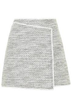 Wrap Front Boucle Skirt