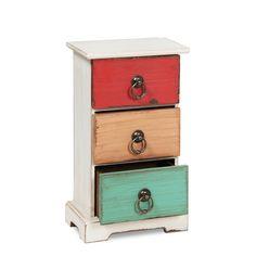 Mini cajonera VINTAGE RETRO 3 colors (Otros complementos) - Sillas de diseño, mesas de diseño, muebles de diseño, Modern Classics, Contemporary Designs...