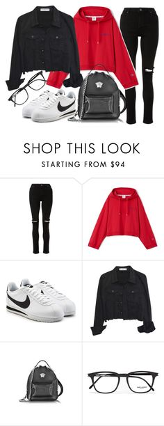 """""""Untitled #22100"""" by florencia95 ❤ liked on Polyvore featuring NIKE, Versace and Yves Saint Laurent"""