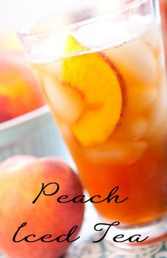 Diary of a Fit Mommy: Thirsty Thursday: Fresh Peach Tea Cocktails, Non Alcoholic Drinks, Summer Drinks, Fun Drinks, Fruity Drinks, Beverages, Daiquiri, Tea Recipes, Cooking Recipes