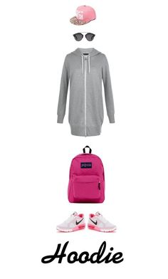 """Pink and grey"" by haineni ❤ liked on Polyvore featuring New Look, NIKE, JanSport and Christian Dior"