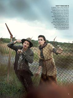 US VOGUE OCTOBER 2012 Lost Highway Models: Kati Nescher & Garrett Hedlund Photographer: Peter Lindbergh Stylists: Tonne Goodman & Michael Philouze