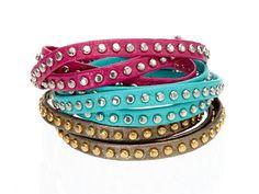 Alexandra Beth Studded Leather Wrap Bracelet