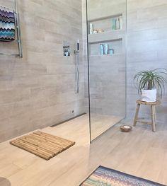 """Weekend ✔️ Love my new bamboo-items from 😍 _______________________________________________Mitt bidrag til konkurranse hos Bathroom Remodel Shower, Bathroom Tiles Grey White, Bathroom Interior Design, Small Attic Bathroom, Bathroom Makeover, Shower Room, Bathroom Shower, Bathroom Decor, Small Bathroom Makeover"