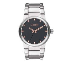Nixon: The Cannon - gray/rose gold $150