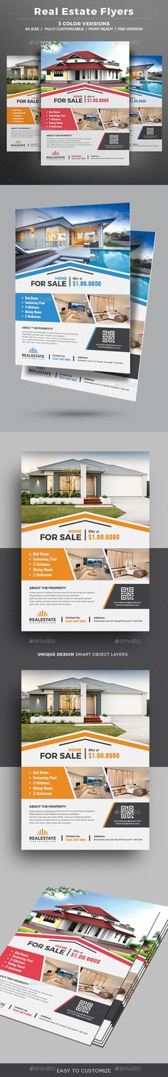 Real Estate Flyer Template PSD. Download here: https://graphicriver.net/item/real-estate-flyer/17193082?ref=ksioks
