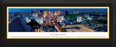 Las Vegas Night City Skyline Panoramic Pictures & Posters