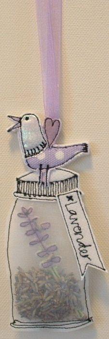 Fabric Jar Lavender Bag £5.00