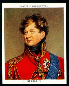 Cigarette Card - King George IV   von cigcardpix