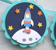 space birthday, space themed, rocket ship banner, outer space banner, space ship banner, space party, decorations, space party decor by lizabitsdesigns on Etsy https://www.etsy.com/listing/241078064/space-birthday-space-themed-rocket-ship