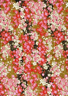 Japanese Yuzen Chiyogami Washi Paper Floral by CraftyPaperOz