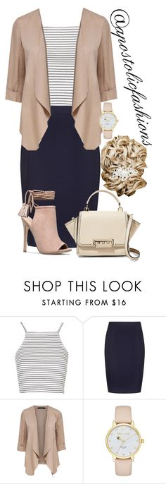 """Apostolic Fashions #1683"" by apostolicfashions ❤ liked on Polyvore featuring Topshop, Kate Spade and ZAC Zac Posen"