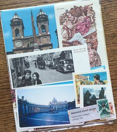 Let's Travel To Rome Italy Vintage Italy by diamondcloudstudio