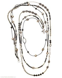 just beautifully worked...look at all of that classy artisanship...hematite, glass, seed beads, sterling...$ 99 - N2097