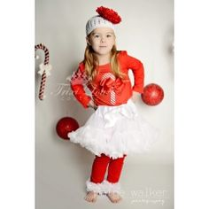 Candy Cane Princess Christmas Pettiskirt Outfit