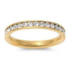 STR-0023 316L Gold IP Stainless Steel Eternity CZ Wedding Band Ring 3mm Sz 3-10; Comes With FREE Gift Box (4) Jinique http://www.amazon.com/dp/B00B6T25RK/ref=cm_sw_r_pi_dp_YeC1tb1WF27CTNBX