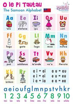 O le Pi Tautau - Samoan Alphabet Chart - size Japanese Sleeve Tattoos, Chinese Tattoos, Samoan Food, Samoan Tattoo, Polynesian Tattoos, Family Worksheet, Alphabet Charts, Daily Planner Printable, American Tattoos
