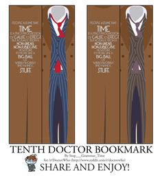 tenth doctor bookmarks