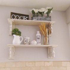 Helloprettythings ~ Fresh & Clean Hello Pretty Things  Gardens Extraordinary Decorative Kitchen Shelves Inspiration