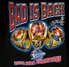 For Sale - VINTAGE DETROIT PISTONS 2004 NBA CHAMPIONS T SHIRT BAD BOYS 3 CHAMPIONSHIP RINGS - See More At http://sprtz.us/PistonsEBay