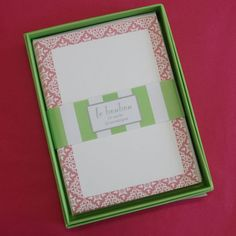 I'm selling Flat Notecards - Pink Lace - box of 10 - A$8.00 #onselz