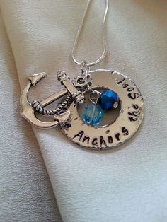 Hey, I found this really awesome Etsy listing at https://www.etsy.com/listing/226252907/love-anchors-the-soul-hand-stamped