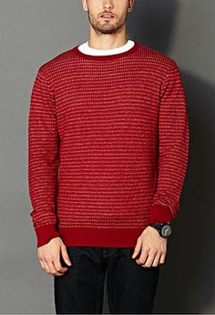 Dotted Stripes Sweater | 21 MEN - 2000072441 #ForeverHoliday
