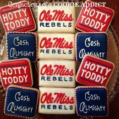 Ole Miss Cookies, Hotty Toddy Cookies
