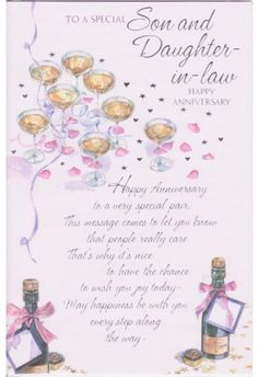 happy anniversary daughter and son in law | To a Special Son and Daughter-in-Law Happy Anniversary
