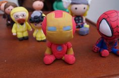 Cute little #polymerclay #Ironman from #TheAvengers :D handmade by me