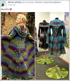 f0204dec Bohemian Fashion, Hippie Bohemian, Hippie Style, Diy Fashion, Bohemian  Style, Form Crochet, Victorian Art, Wet Felting, Wearable Art