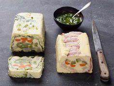 Un flan aux légumes,en entrée ou à l'apéritif accompagné  de salsaverde