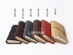 LORRAIN Traveler's Notebook Leather Cover Vintage Notebook Top Quality Recommended 1PCS