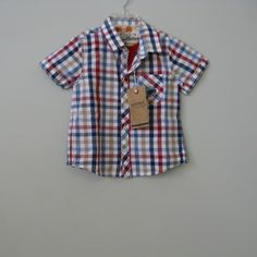 Mayoral Baby Boys Plaid Shirt with Henley Detail : Designer Classic Clothes Fashions Unique Toys Accessories Cute Pretty Baby Boy Girl Boutique Swimsuits European Christening Gowns Wooden Gifts Gowns Totes Columbus Powell Ohio Dublin Delaware New Albany Westerville Clothing