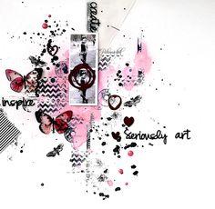 """Модное хобби: Мастер-класс от Тани Паламарчук. Страничка """"Inspire. Create. Seriously art"""""""