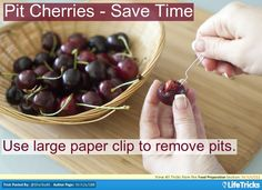 Pit Cherries – Save Time