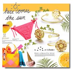 """""""Here comes the sun"""" by totwoo ❤ liked on Polyvore featuring H&M, Pier 1 Imports, WearableTech, totwoo and smartjewelry"""