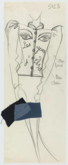 Tributes to Aragon, Apollinaire, and Cocteau - Musée Yves Saint Laurent Paris