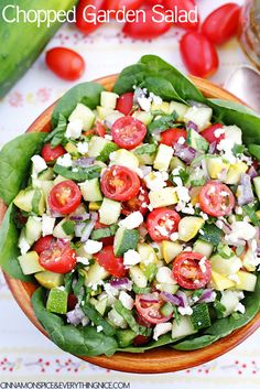 A fresh and crunchy chopped garden salad with all the bright flavors of late summer I'm trying to hold onto for just a little longer.