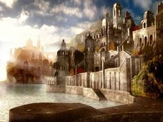 fantasy architecture | Unspecified artwork, Mixed Style, 3D Digital Art, City, architecture ...