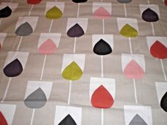 """SCION/ HARLEQUIN CURTAIN FABRIC REMNANT """"SULA"""" 80 X 145 CM COTTON #SCIONHARLEQUIN Curtain Fabric, Curtains, Harlequin Fabrics, Cotton Crafts, Fabric Remnants, Scion, Lampshades, Cushions, Kids Rugs"""
