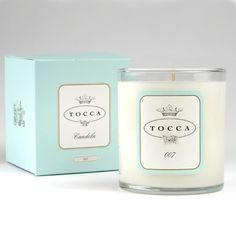 Tocca 007 candle... I love the sexy aroma... the combination of leather and a dry martini...  great gift for him or her.  Very James Bond indeed.