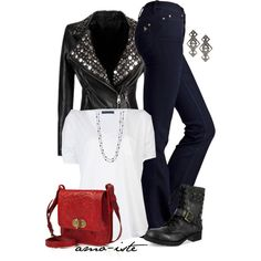 White Tee & Combat Boots, created by amo-iste on Polyvore