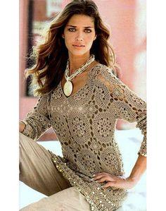 crochet tunic patterncrochet motifs patternlace by ThePoshCrochet