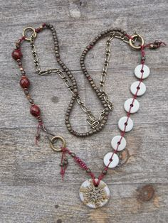 """saraccino: """"A Winter's Tale"""" - Part I - Necklace from an inspiration kit"""
