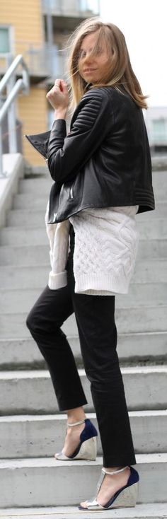 Black And White Outfit Idea