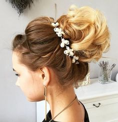 curly+bun+wedding+updo